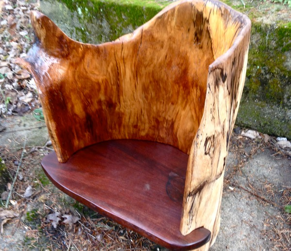 "log chair with arm rest"" media: shrubbi $1200"